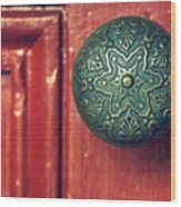 Victorian Door Handle Wood Print