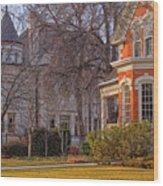 Victorian Era Houses Wood Print by Utah Images