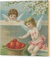 Victorian Era Valentine Card Wood Print