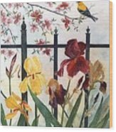 Victorian Garden Wood Print by Ben Kiger