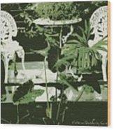 Victorian Garden Poster Wood Print
