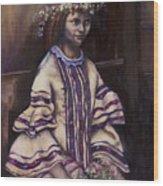 Victorian Girl Wood Print