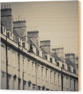 Victorian Houses In England Wood Print