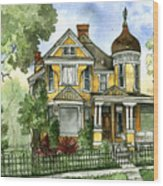Victorian In The Avenues Wood Print