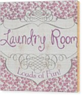 Victorian Laundry Room Wood Print