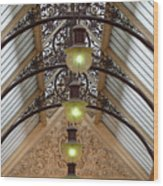 Victorian Lights Wood Print