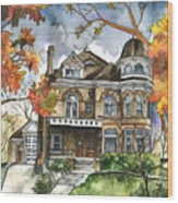 Victorian Mansion Wood Print