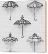 Victorian Parasols Wood Print