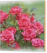 Victorian Rose Garden - Digital Painting Wood Print