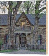 Victorian Sedman House In Montana State Wood Print