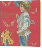 Victorian Valentine Wood Print