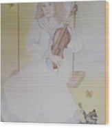Victoria's Violin Wood Print
