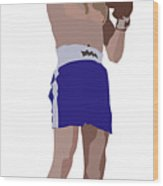 Victorious Boxer Wood Print