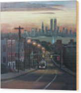 Victory Boulevard At Dawn Wood Print by Sarah Yuster
