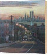 Victory Boulevard At Dawn Wood Print