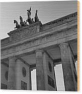 Victory Of Brandenburg Gate Wood Print