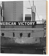 Victory Ship Wood Print