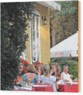 Vienna Restaurant In The Park Wood Print