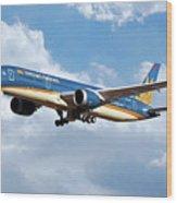 Vietnam Airlines Boeing 787 Dreamliner Wood Print