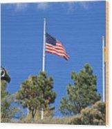 Vietnam Memorial Angel Fire New Mexico Wood Print