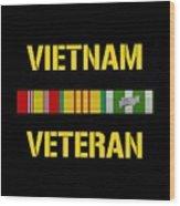 Vietnam Veteran Ribbon Bar  Wood Print