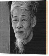 Vietnamese Village Elder Wood Print