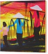 Vietnamese Women V2 Wood Print