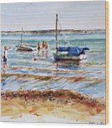 View Across Provincetown Harbor Wood Print