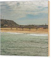 View At La Loberia Beach In Salinas, Ecuador  Wood Print
