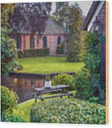 View At Old Church  In Dutch Village Wood Print