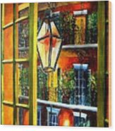 View From A French Quarter Balcony Wood Print