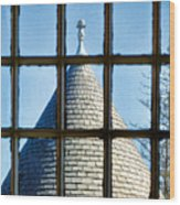 View From A New England Turret Wood Print