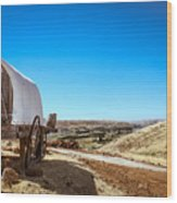 View From A Sheep Herder Wagon Wood Print