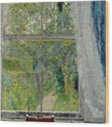 View From A Window Wood Print by Spencer Frederick Gore
