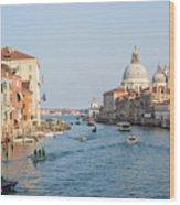 View From Accademia Bridge Wood Print