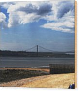 View From Across The Tagus Wood Print
