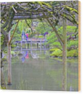 View From An Arbor Wood Print