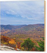 View From Bear Mountain Wood Print
