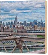 View From Brooklyn Bridge Wood Print
