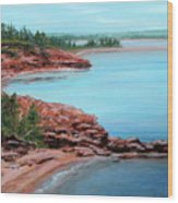 View From Cape Bear Wood Print