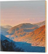 View From Chimney Rock-north Carolina Wood Print