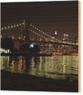 View From Dumbo Wood Print