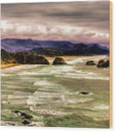 View From Ecola II Wood Print