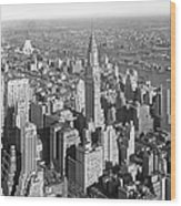 View From Empire State Bldg. Wood Print