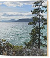 View From Incline Village Wood Print