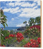 View From Keauhou Kona Wood Print