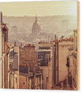 View From Montmartre Wood Print