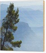 View From Montserrat, Spain Wood Print