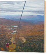 View From Mount Mansfield In Autumn Wood Print