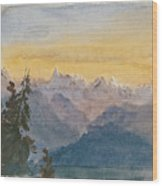 View From Mount Pilatus Wood Print